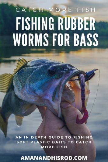 bass with rubber worm